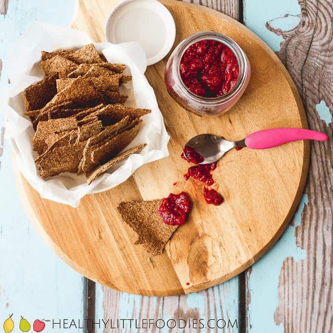25 healthy homemade cracker recipes suitable for kids and the whole family Orange Seed Crackers via Healthy Little Foodies
