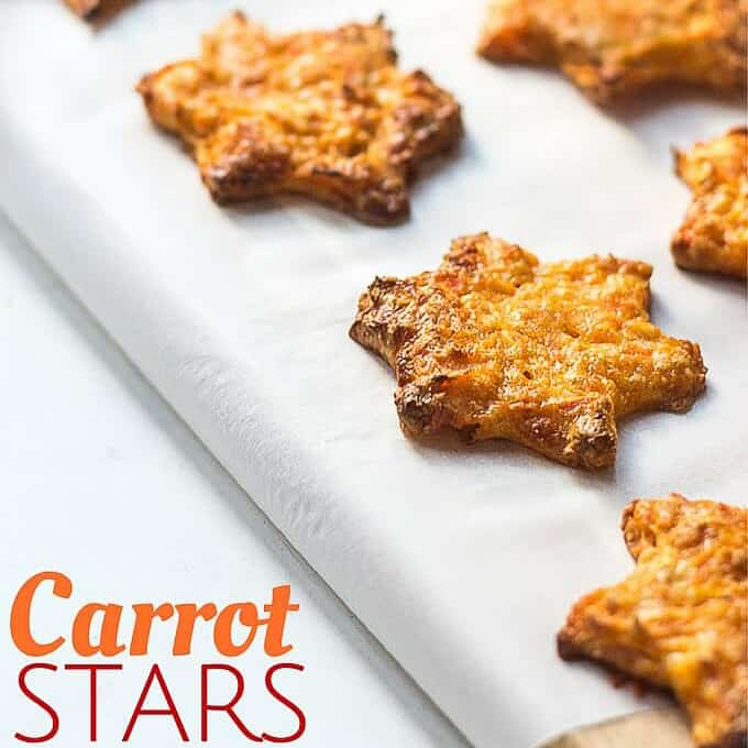 25 healthy homemade cracker recipes suitable for kids and the whole family. Carrot Stars via Healthy Little Foodies