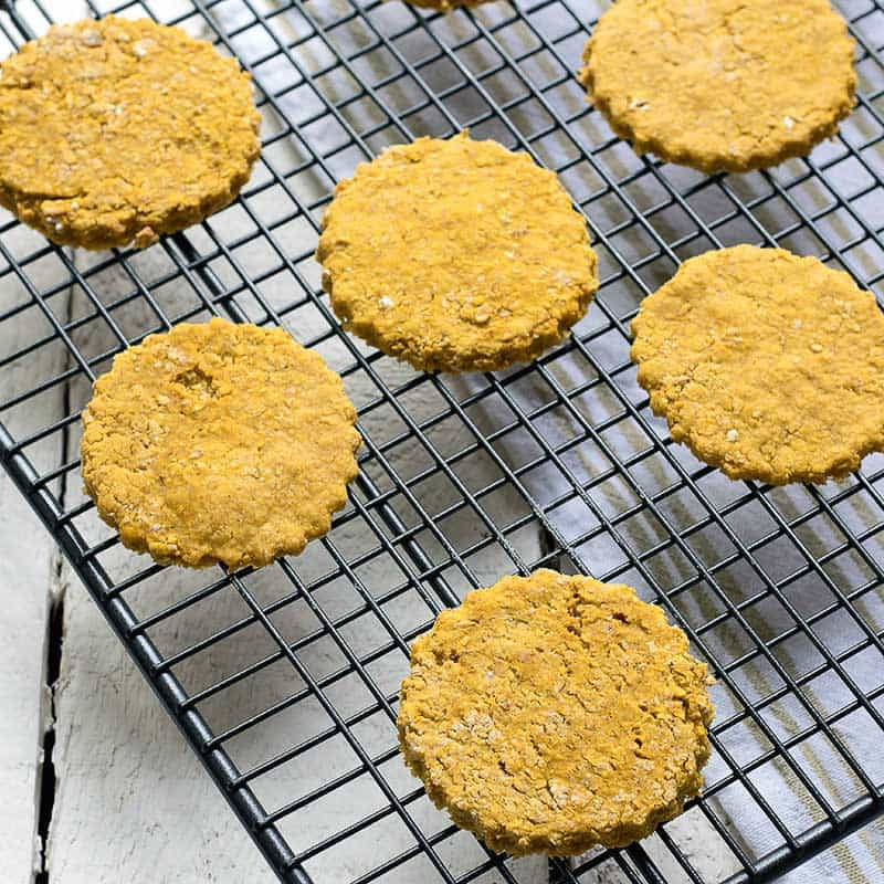 25 healthy homemade cracker recipes suitable for kids and the whole family Butternut Oat Cakes via Sneaky Vege
