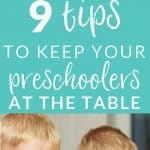 9 Tips to keep preschoolers at the dinner table, parenting tips, picky eaters