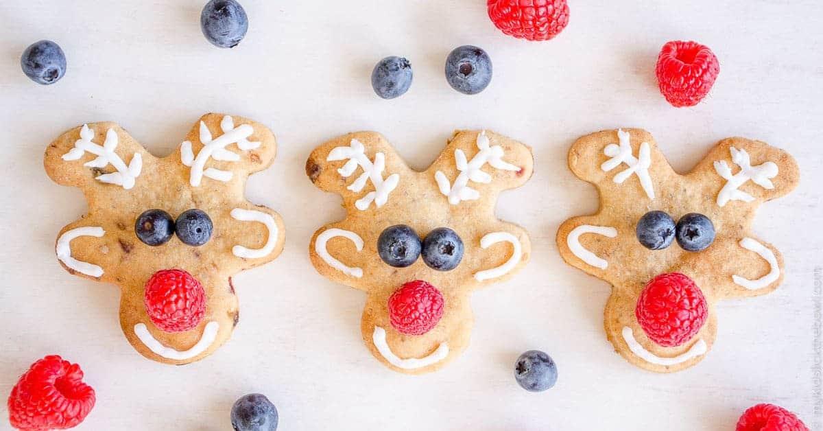 Low Sugar Reindeer Cookies