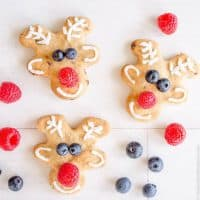 Low Sugar Reindeer Cookies Easy decorated Christmas Cookie recipe, healthy allergy friendly perfect for kids