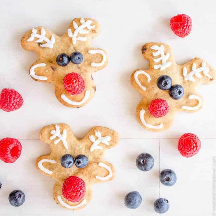 Low Sugar Reindeer Cookies