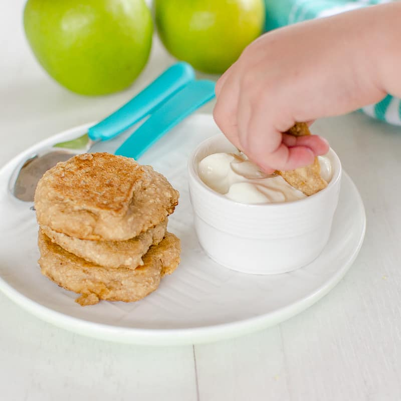Baby Pancakes Apple And Oat Baby Led Weaning