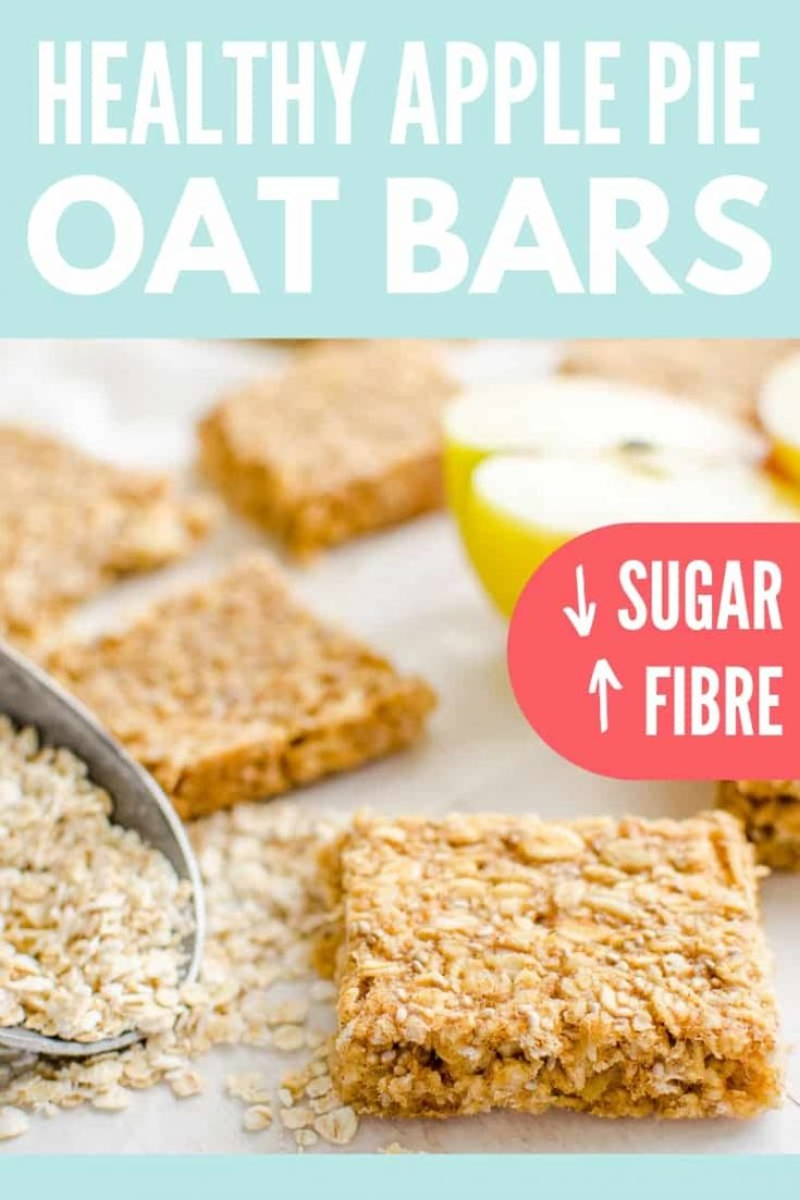 healthy oat bars, apple pie flavour an easy granola bar recipe, oat flapjacks are perfect for kids toddlers and baby led weaning #granola bar #snackattack #babyledweanin
