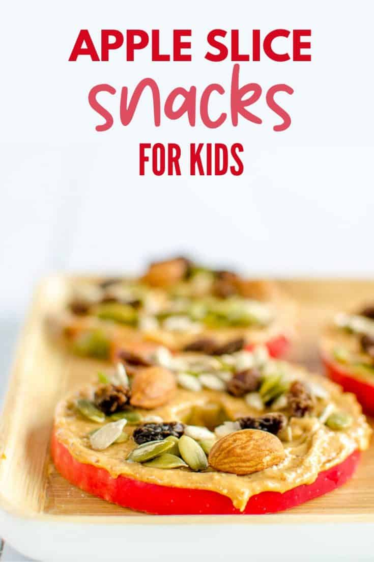 Easy Apple Snacks For Kids - 4 healthy fun and quick snack ideas for kids made with apple slices #kidssnacks #kidsfood #apples
