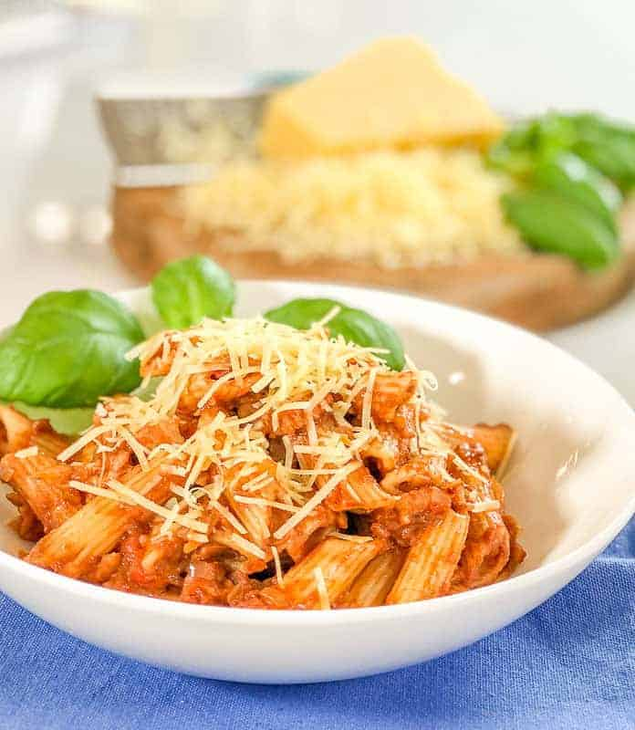 Tomato Bacon Pasta Sauce With Hidden Mushrooms