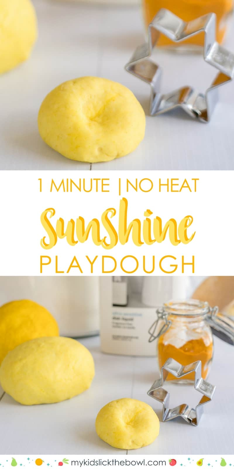 No Cook One Minute Playdough 3 Ingredients
