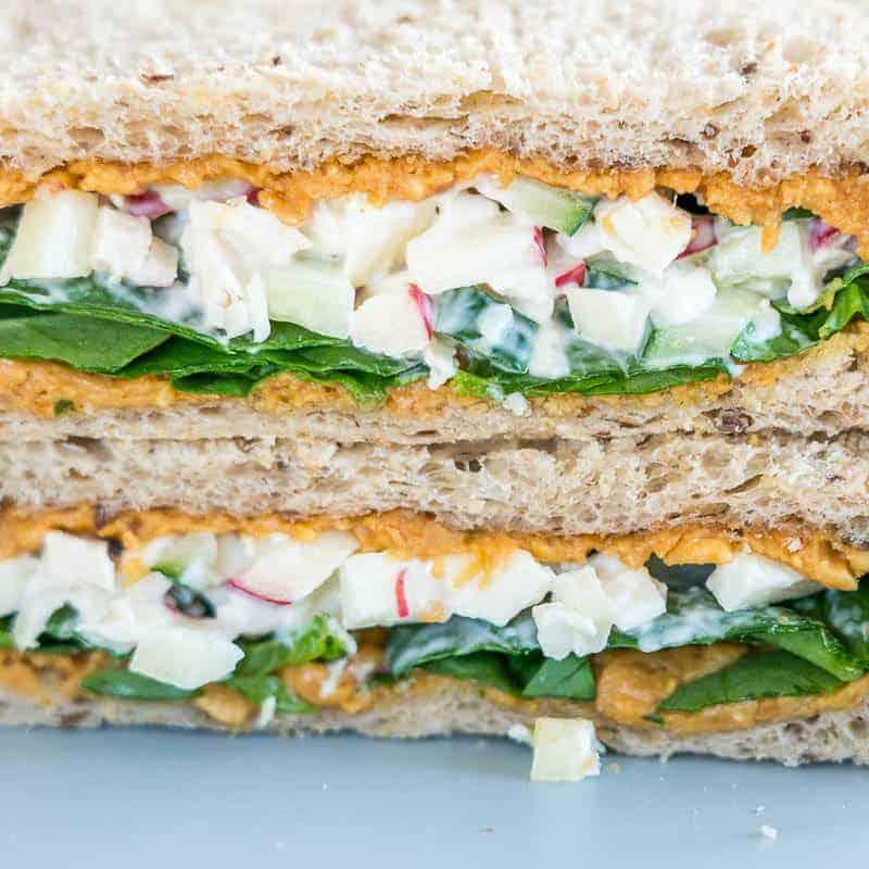 Peanut Butter Chicken Salad Sandwich, perfect sandwich idea for kids, fun, healthy, yummy