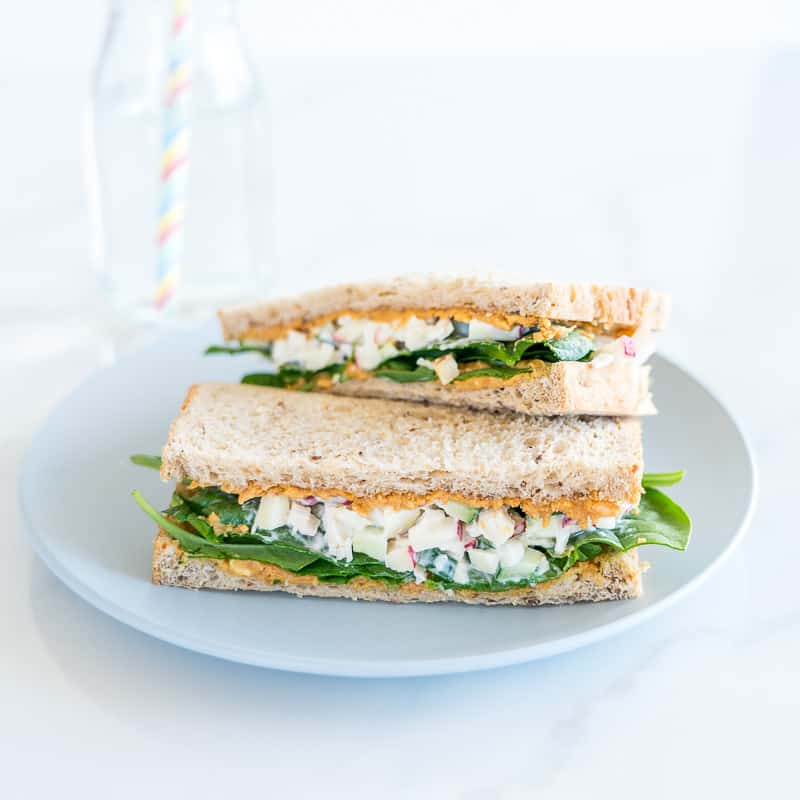 Peanut Butter Chicken Salad Sandwich, perfect sandwich idea for kids, fun, healthy, yummy