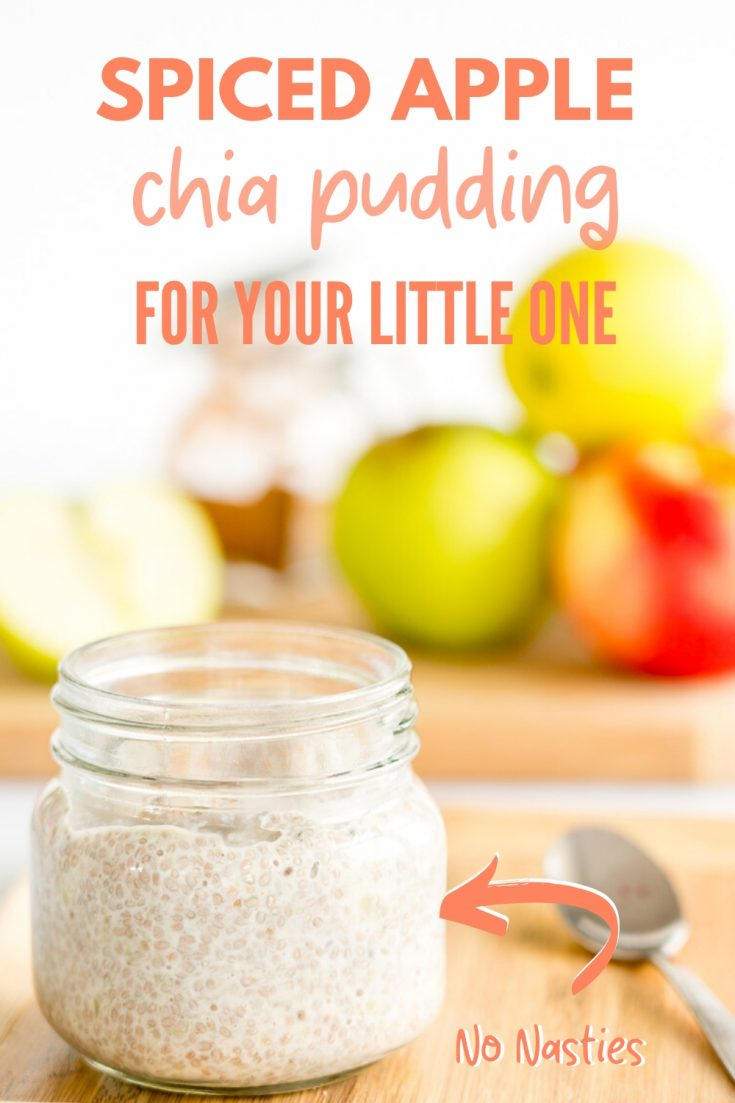 Easy chia pudding recipe, spiced apple flavour perfect for breakfast, healthy and loved by kids #chia #chiapudding #applerecipes #babyfoodrecipes #kidssnacks
