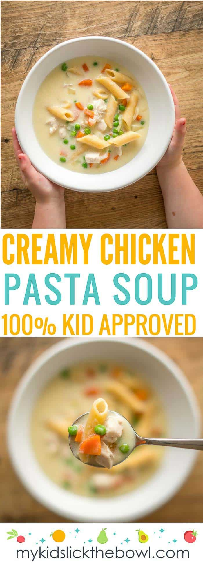 creamy chicken pasta soup