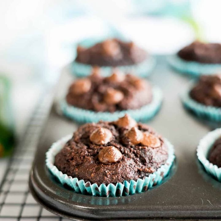 Zucchini Muffins Double Chocolate Grain Free
