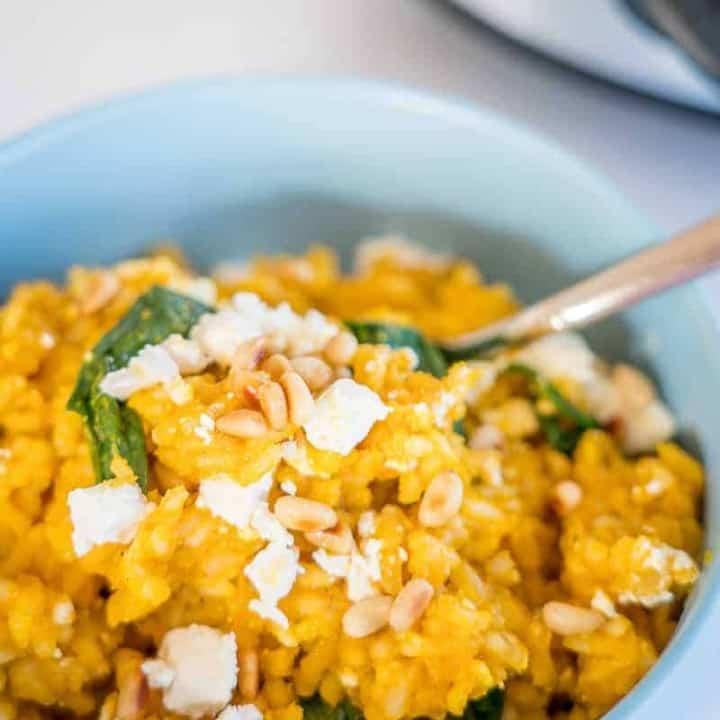 Slow Cooker Risotto- Pumpkin & Feta