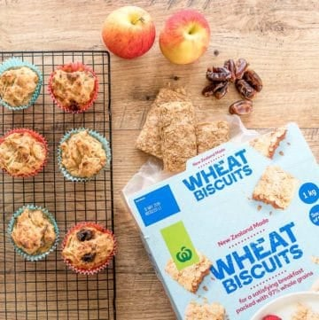 apple and date muffins made with weetbix