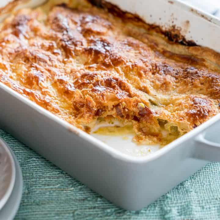 Easy Chicken and Leek Pie