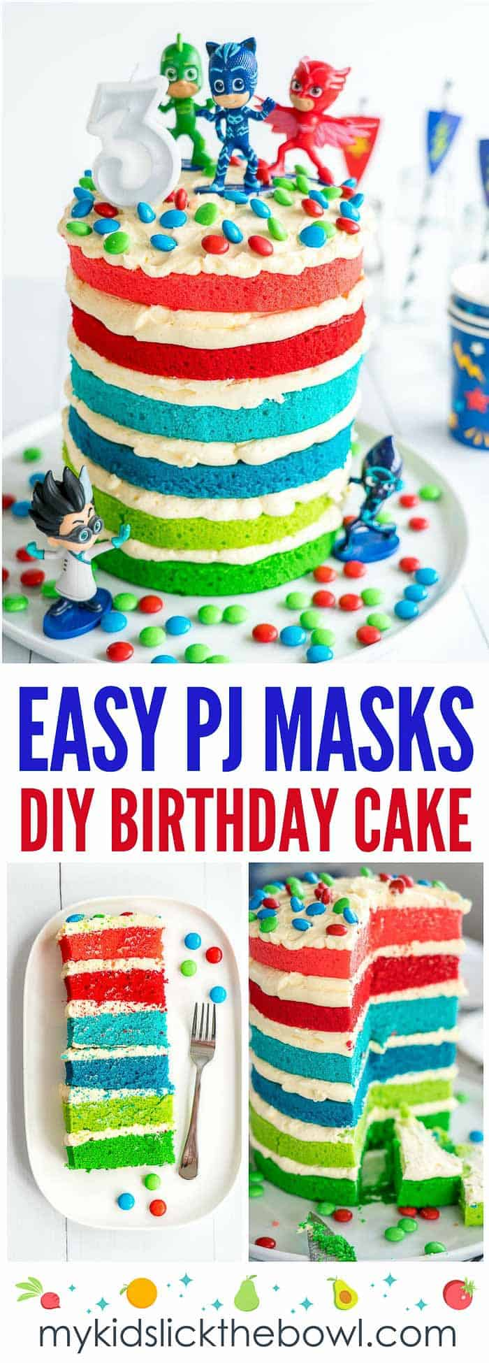 Pj Masks Cake Easy Diy Birthday Cake For Kids