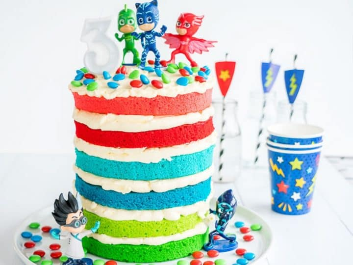 Fabulous Pj Masks Cake Easy Diy Birthday Cake For Kids Birthday Cards Printable Opercafe Filternl