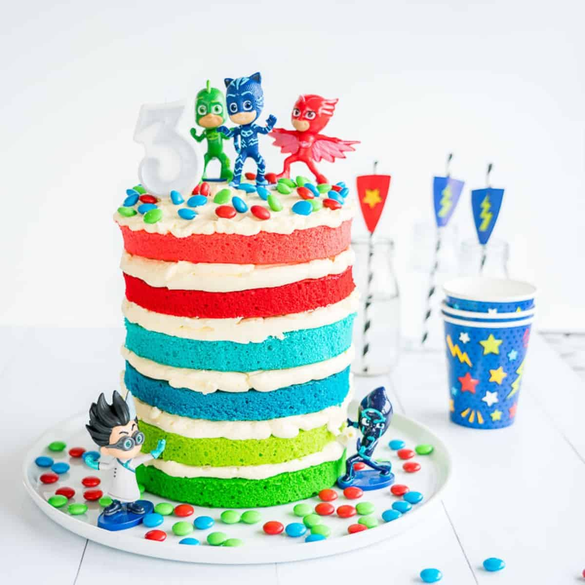 Amazing Pj Masks Cake Easy Diy Birthday Cake For Kids Funny Birthday Cards Online Alyptdamsfinfo