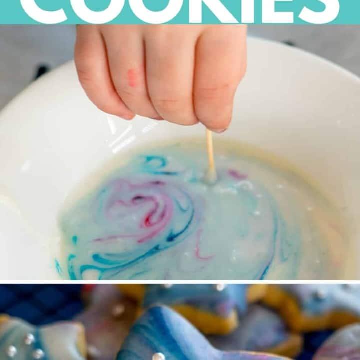 Galaxy Iced Cookies