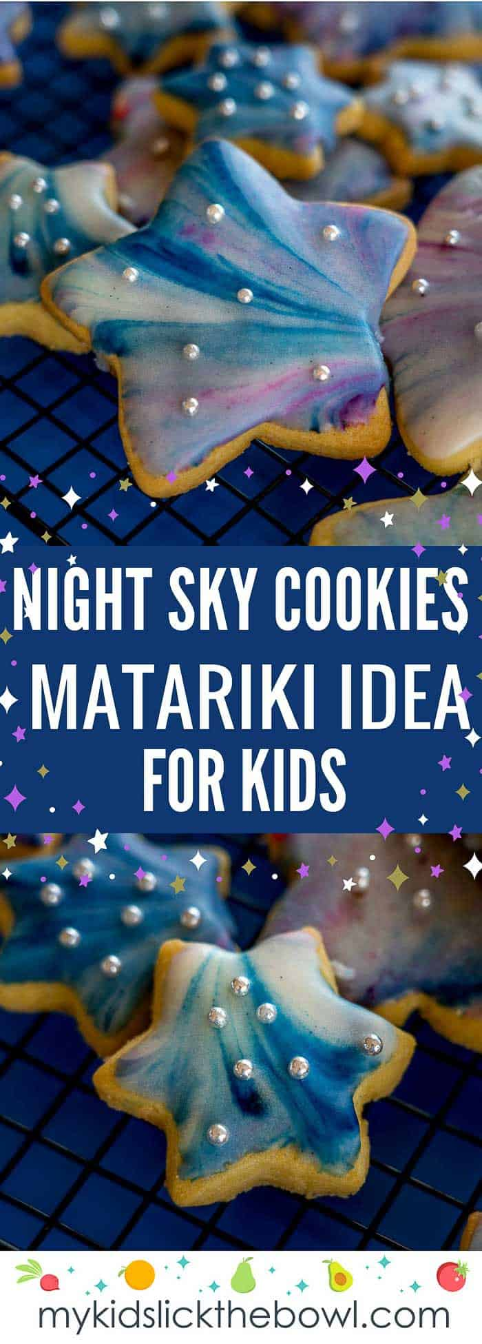 Galaxy Night Sky Cookies