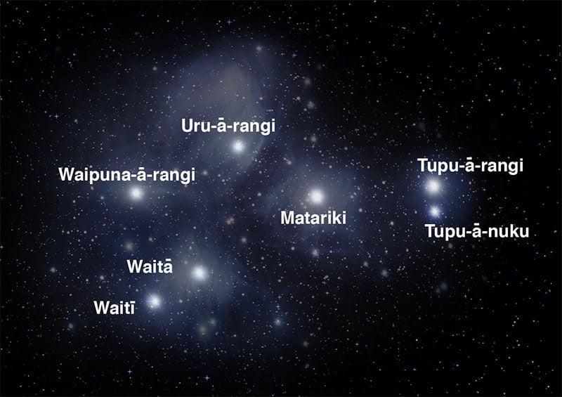 The 7 stars of Matariki