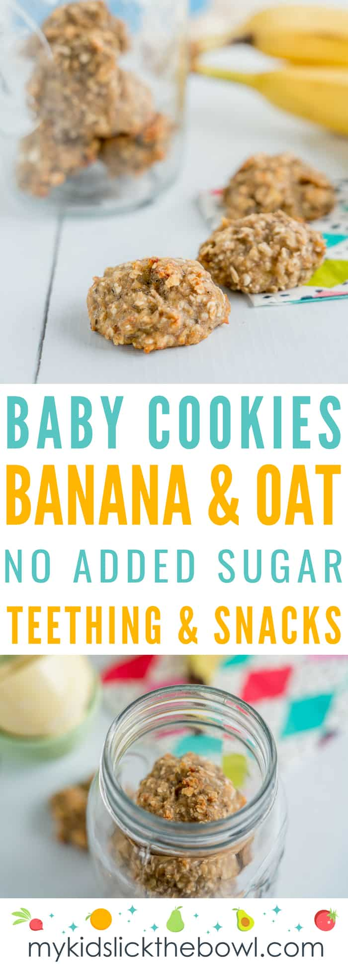 Basic Banana Oat Baby Cookies