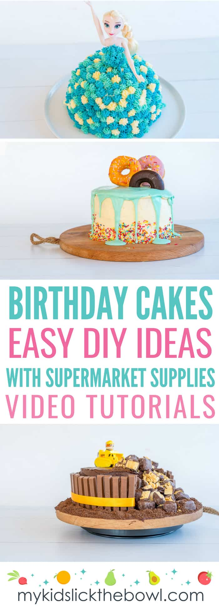 Astonishing Easy Diy Birthday Cake Ideas For Children Video Tutorials Personalised Birthday Cards Epsylily Jamesorg