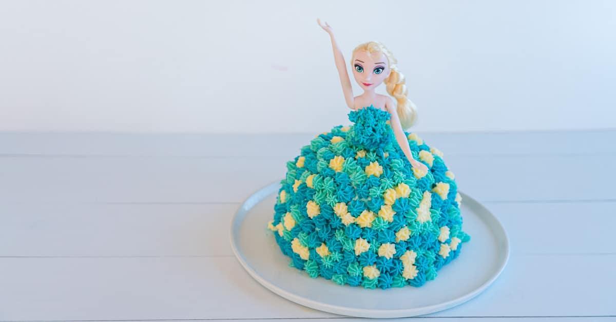 Wondrous Elsa Cake Easy Diy Birthday Cake Tutorial My Kids Lick The Bowl Funny Birthday Cards Online Inifodamsfinfo