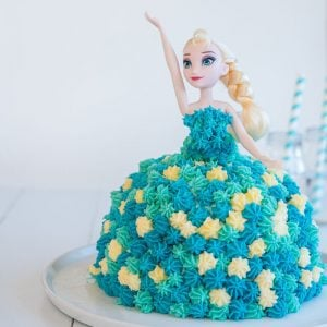 Elsa Frozen Ice Cream Cake