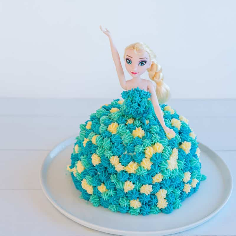 Astounding Elsa Cake Easy Diy Birthday Cake Tutorial My Kids Lick The Bowl Funny Birthday Cards Online Elaedamsfinfo
