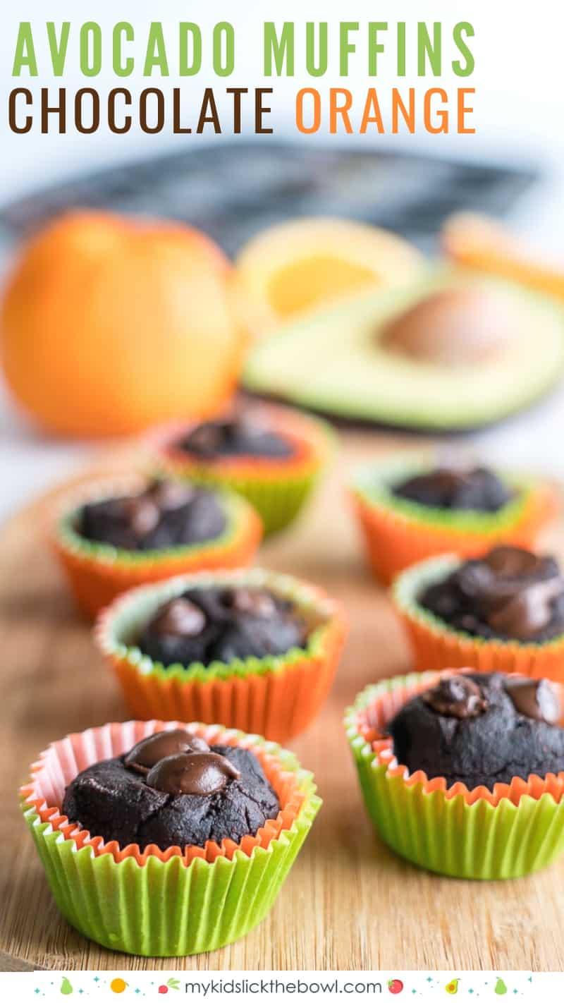 Chocolate Orange Avocado Mini Muffins