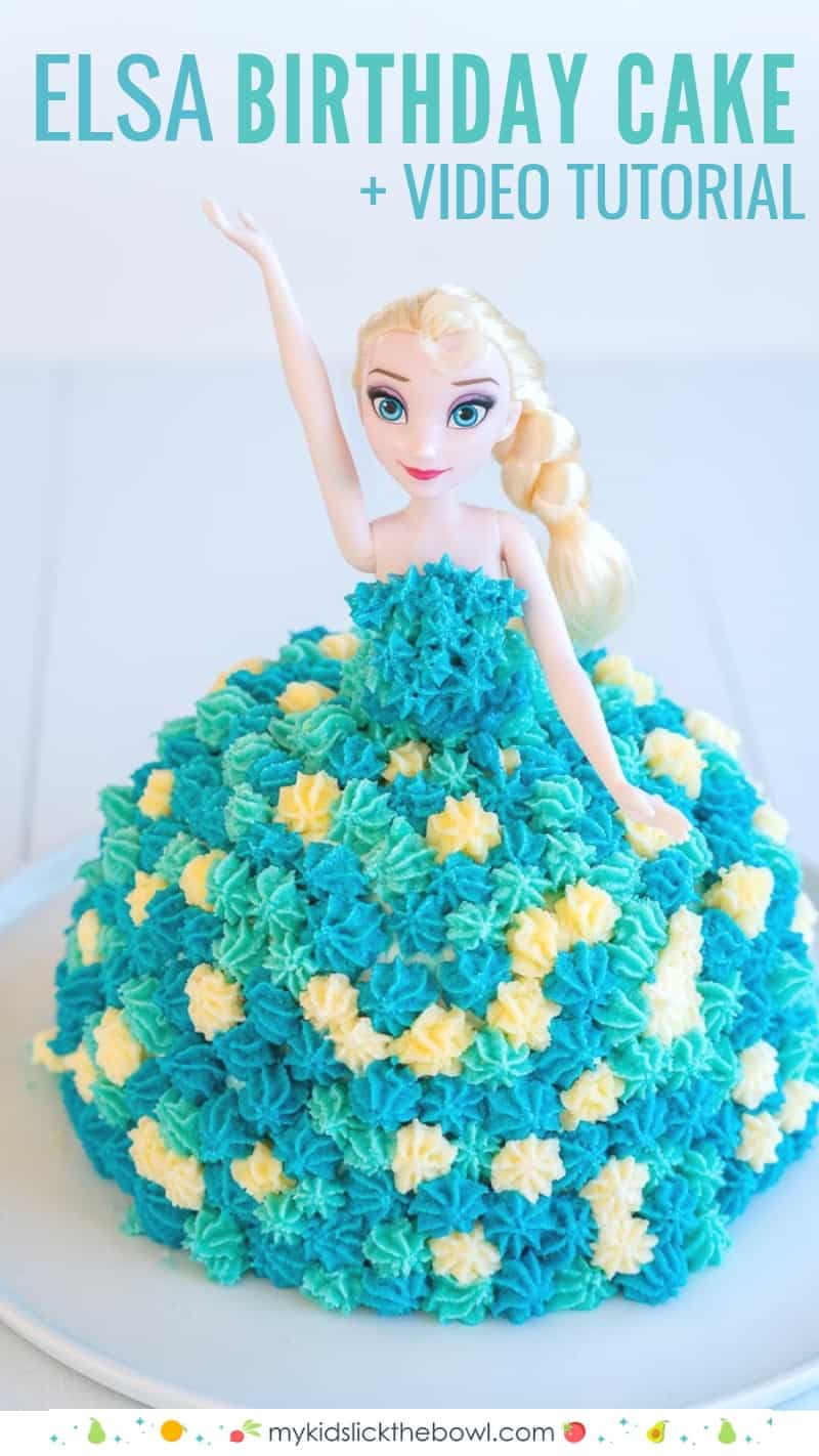 Excellent Elsa Cake Easy Diy Birthday Cake Tutorial My Kids Lick The Bowl Birthday Cards Printable Opercafe Filternl