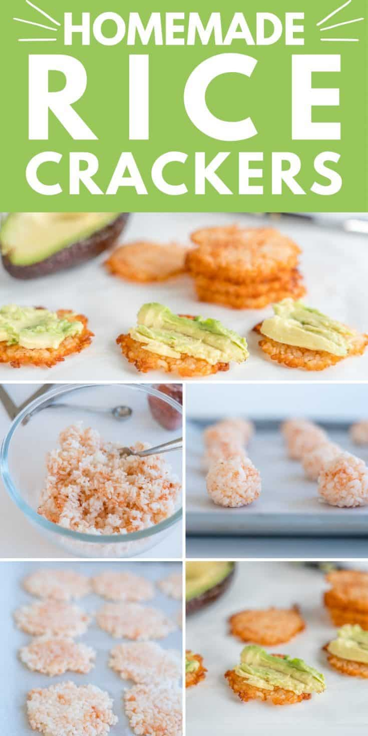 Rice Crackers a homemade healthy gluten-free cracker you can make with leftover rice #crackers #snacks #healthyfood #easyrecipe #veganrecipe #glutenfree #glutenfreedairyfree