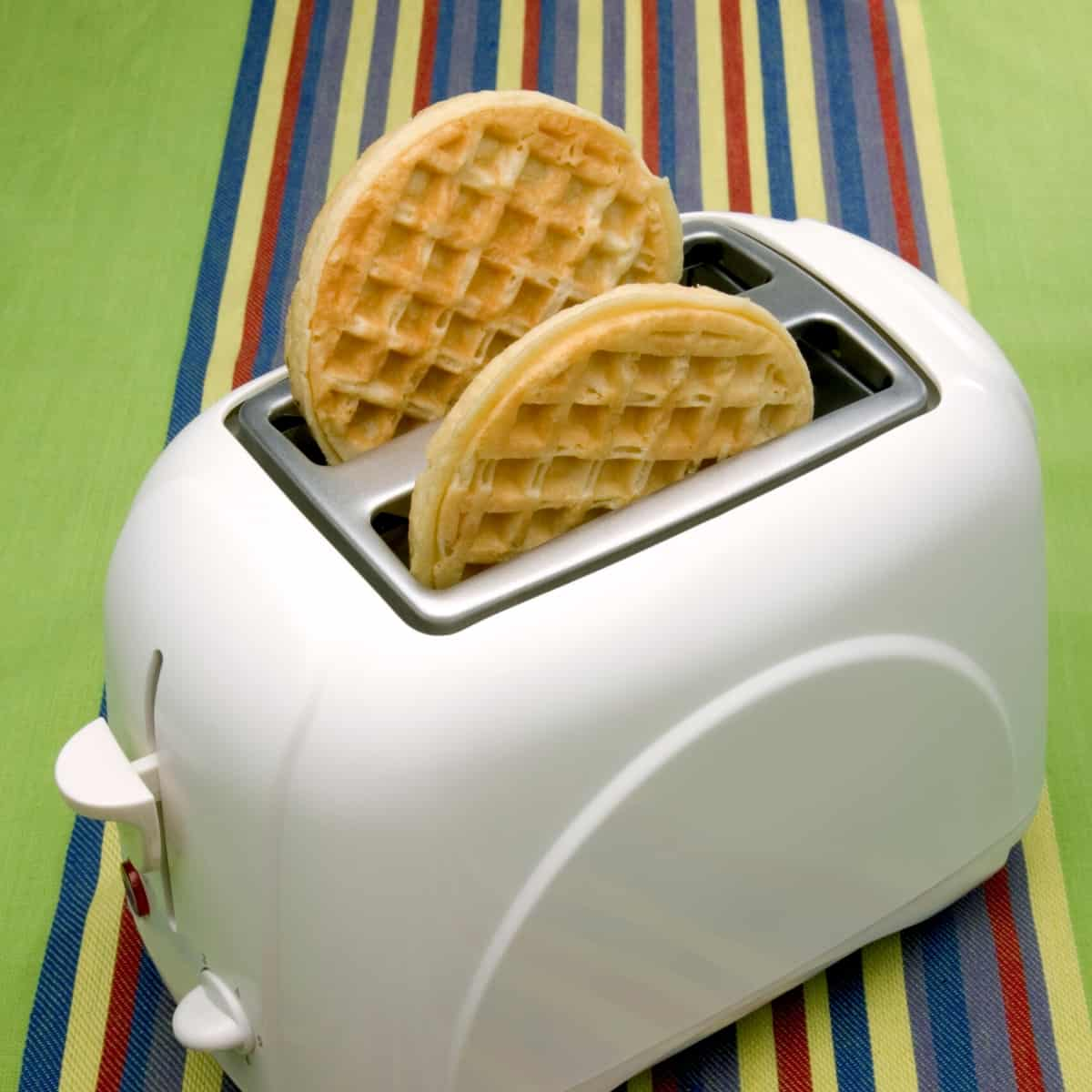waffles in a white toaster