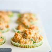 Savoury Muffins - Wholemeal Pea and Ham