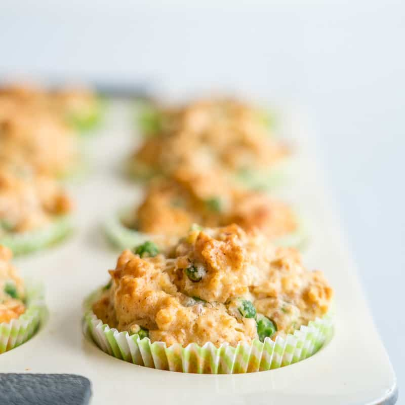 Savoury muffins in cream muffin tray