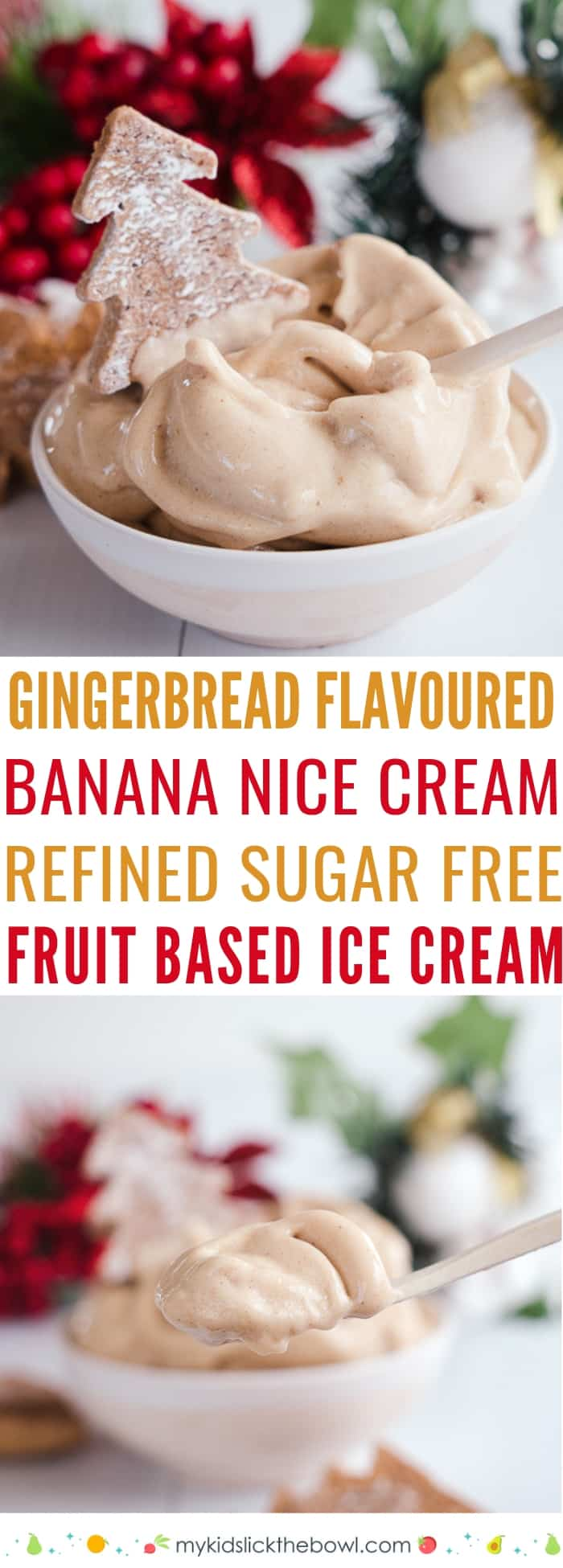 bowl of gingerbread flavoured ice cream