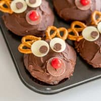 Christmas Cupcakes- Chocolate Reindeer