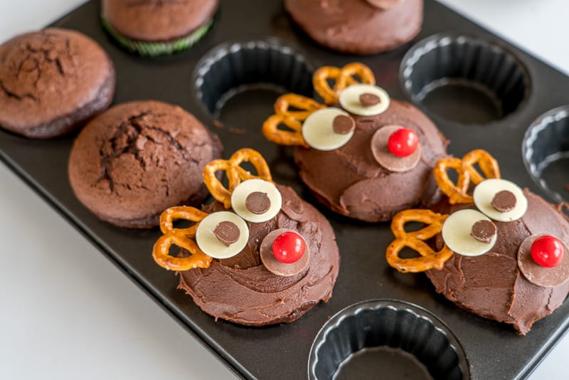 Chocolate Christmas Cupcakes