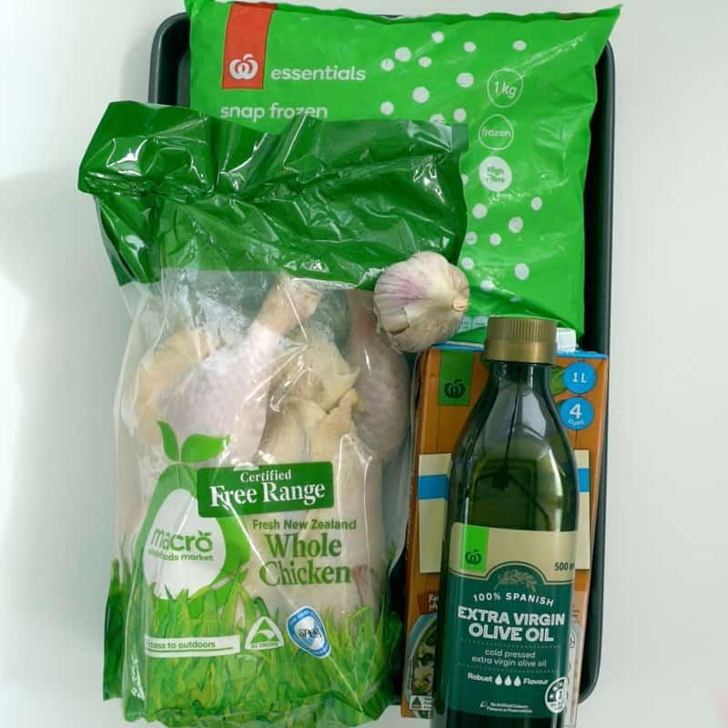 Sheet Pan Chicken & Peas Ingredients