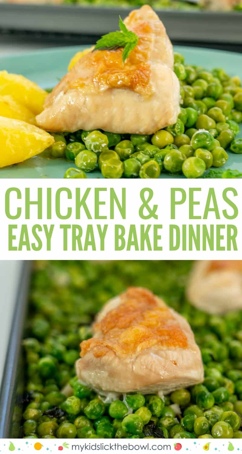Sheet Pan Chicken and Peas