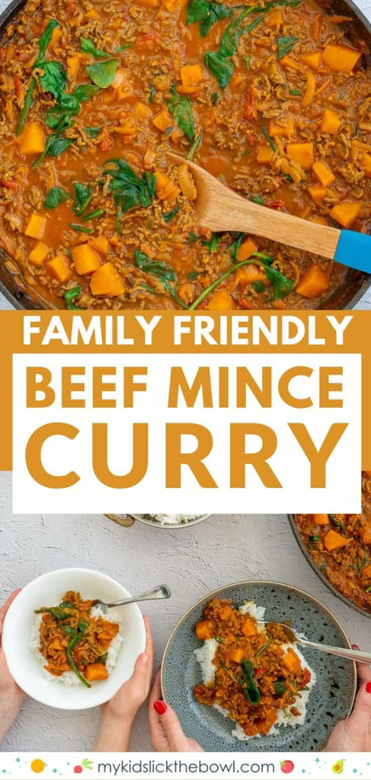 Mince Curry, beef mince, curry flavours, and coconut milk come together in this easy family-friendly dinner