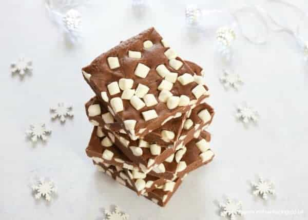 Quick and Easy 3 Ingredient Marshmallow Chocolate Fudge Recipe