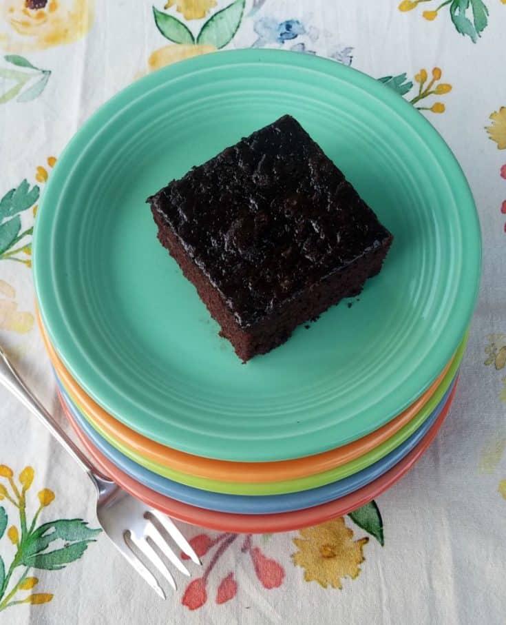 Chocolate Wacky Cake (No Eggs, No Dairy, No Clean-up!)