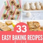 Collage of baking recipes for kids