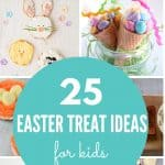 A collage of images showing easter treat ideas for kids