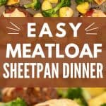 Image for pinterest, meatloaf with a text overlay