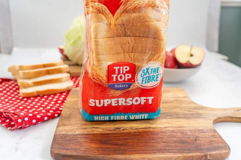 loaf of Tip Top High Fibre Super Soft bread