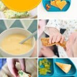 "8 photo collage of egg recipes for babies with text overlay ""eggs for baby"""